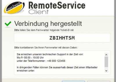 RemoteService Client mit A-Z Authentifizierung