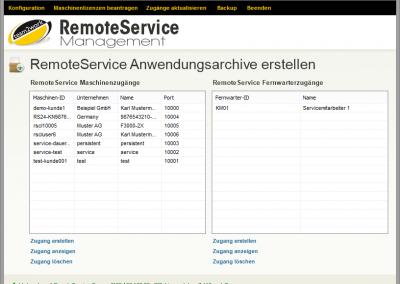 RemoteService Management