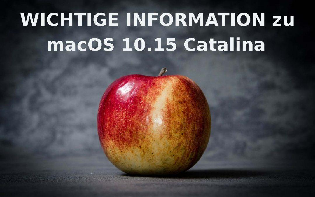 Wichtige Information zu macOS 10.15